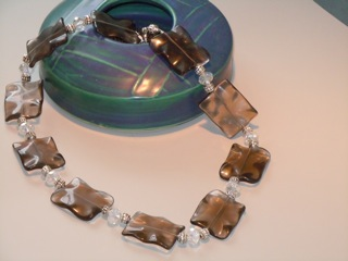 Chunky Smokey Glass and Crystal