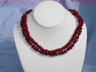 Ruby Faceted Quartz and Garnet