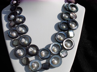 Mother of Pearl Circles with Fresh Water Pearls