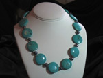 Chalk Turquoise and Fresh Water Pearls