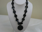 Black Agate with Pendant