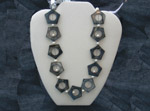 Mother of Pearl in a geometric shape with FW pearls