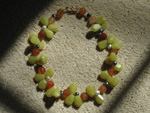 New Jade, Carnelian and Gray Freshwater Pearls Necklace